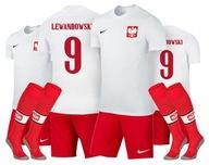 NIKE LEWANDOWSKI lub NADRUK Komplet Polska 133cm