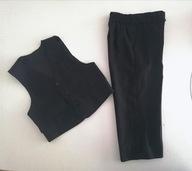 Elegancki komplet kamizelka i spodnie 98-104 cm