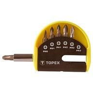 Końcówki wkrętakowe z uchwytem, 7 szt TOPEX 39D350