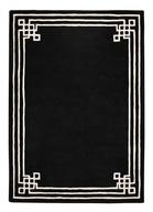 160x230 Dywan atr deco grecki wzór czarny wełna