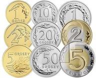 Zestaw monet obiegowych 2021 r. UNC 9 sztuk