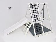 Figelo Junior White domowy plac zabaw zjeżdżalnia