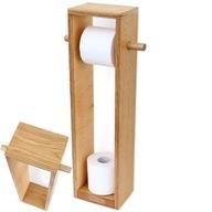 Stojak na papier toaletowy, uchwyt wieszak Drewno