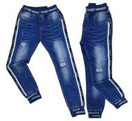 SPODNIE jeans JOGGERY GANGS r 10 - 134/140 cm