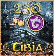 250 Tibia coins - Transferable - Wszystkie światy