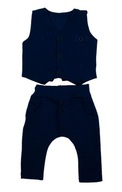 Komplet elegancki garnitur kamizelka i spodnie 74