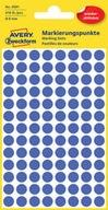 Etykiety kółka niebieskie usuwalne 8 mm Avery 3591