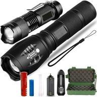 2x LATARKA Taktyczna LED CREE XM-L T6 i Q5 ZOOM
