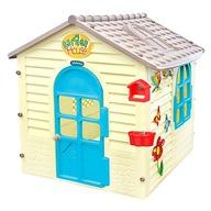 Kolorowy plastikowy domek ogrodowy dla dzieci