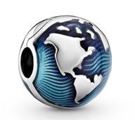 Charms Błękitny globus 925 srebro do PANDORY