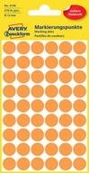 Etykiety kółka pomarańczowe 12 mm Avery 3148