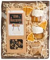 Prezent na DZIEŃ NAUCZYCIELA kosz prezentowy miód
