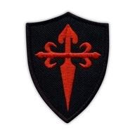 Naszywka Krzyż Świętego Jakuba tarcza czarna HAFT