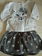 Komplet bluzka i spódniczka 110/116 H&M