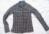 Koszula krata Bershka XS 34 butelkowa zieleń lato