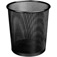 Kosz biurowy siatkowy na papier okrągły 18l czarny