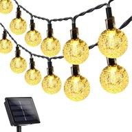GIRLANDA LAMPKI OGRODOWE SOLARNE LED KULKI 5M