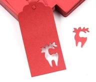 Zawieszka 5szt Etykieta Święta Boże Narodzenie