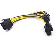 Rozdzielacz zasilania GPU PCI-E 8PIN do 2x 6+2 PIN