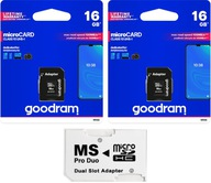 MS PRO DUO ADAPTER + GOODRAM 32GB CLASS10 SONY PSP