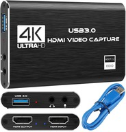 NAGRYWARKA OBRAZU USB 3.0 GRABBER PC HDMI 4K OBS