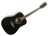 Czarna Gitara Akustyczna +tuning +wysoka ocena
