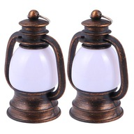 2 sztuk Retro Mała lampa nafta LED Vintage Horse
