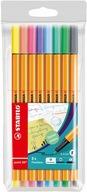 Cienkopis Stabilo Point 88 kpl pastelowe 8 kolorów