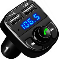 TRANSMITER BLUETOOTH FM MP3 SD ŁADOWARKA 2xUSB