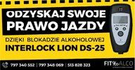 Blokada alkoholowa Lion DS - montaż cała Polska!