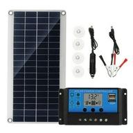 1 zestaw panel słoneczny z regulatorem do