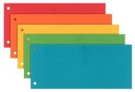 Przekładki do segregatora 1/3 A4 karton mix kolory