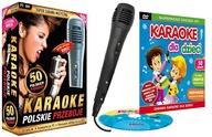 ZESTAW POLSKIE PRZEBOJE+Karaoke dla Dzieci DVD+Mik