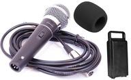 Mikrofon Dynamiczny, Wokal, Karaoke, Kabel, Gąbka