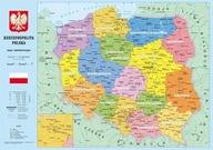 Podkładka na biurko Mapa Polski dwustronna