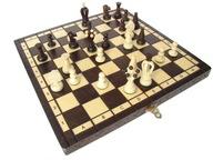 gra szachy drewniane KRÓLEWSKIE średnie