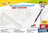 Blok techniczny GIMBOO A4 10 kart 150gsm biały