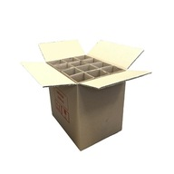 Karton klapowy na 12 butelek 360x270x360mm