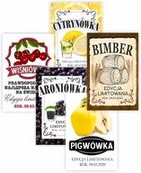 Naklejki etykiety na wesele alkohol BIMBER WZORY