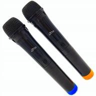 DWA Bezprzewodowe Mikrofony Karaoke 2 Zestaw Śpiew