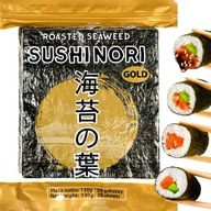 NORI Algi do Sushi WODOROSTY GLONY Yaki GOLD 50szt