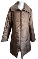 Kurtka płaszcz puchowy metaliczny 42-44 xl
