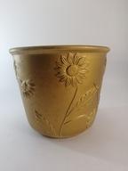 Doniczka ceramiczna złota