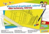 Blok techniczny A3 10 kart 150gsm mix kolorów
