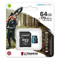 KINGSTON 64 GB micro SD XC C10 UHS-3 V30 A2 170MBs