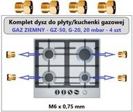 Dysze kuchenki gazowej gaz ziemny GZ-50:Amica,Beko
