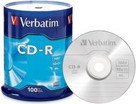 Płyty VERBATIM CD-R 700MB 52x 100szt NIEZAWODNE