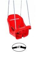 Bezpieczna huśtawka kubełkowa, fotelik z pasami PL