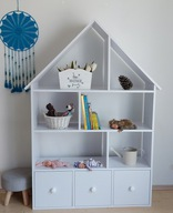 Regał domek szuflady 1- 165/106/30 dla dzieci