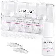 Semilac TIPSY CLEAR + KLEJ zestaw do przedłużania